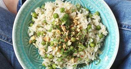 Pilaw Reis mit Erbsen