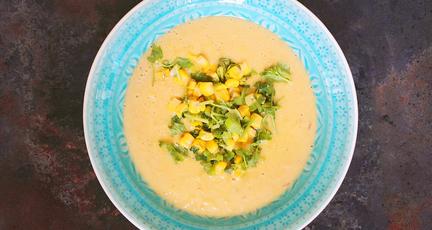 Maissuppe mit Kokosmilch