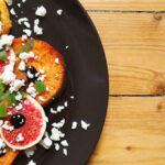 Suesskartoffelcarpaccio mit Feta und Feige