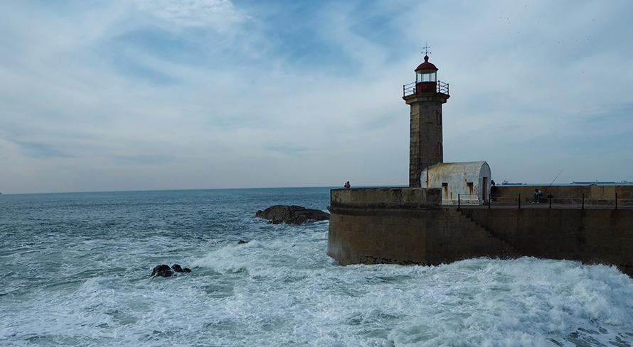 Leuchtturm in Porto