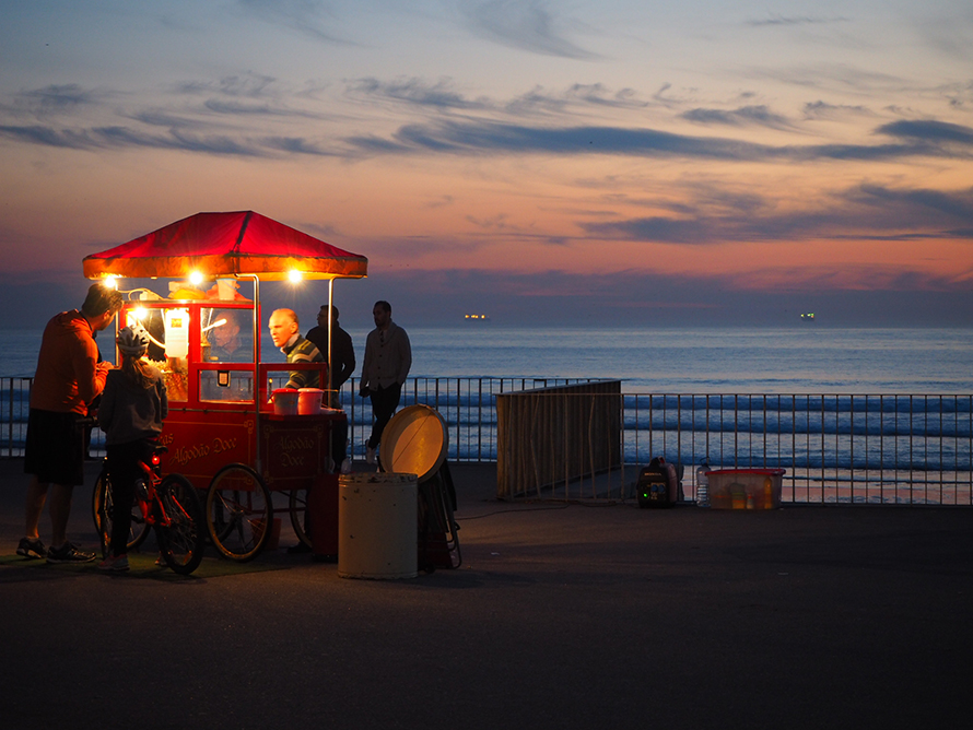 Popcorn am Strand in Porto