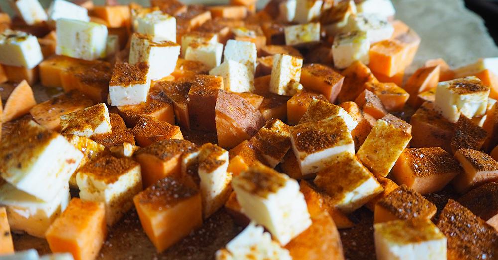 süßkartoffel und feta