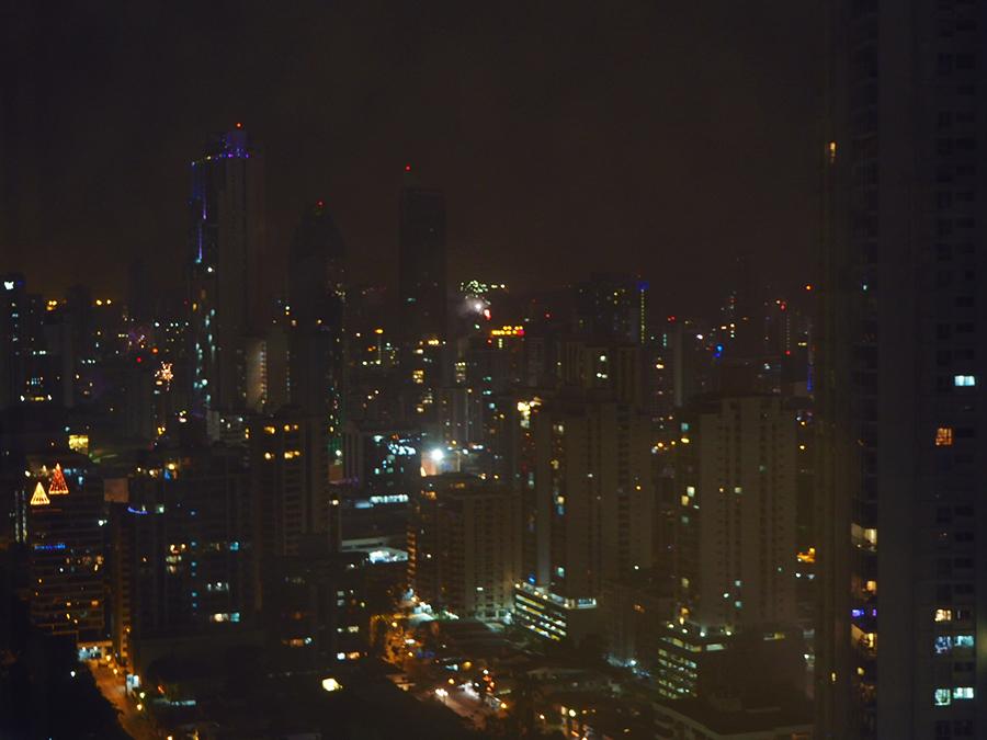 Blick auf die Stadt aus dem Hotel in Panama City