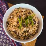 Reis mit Kokosmilch und Bohnen aus Panama