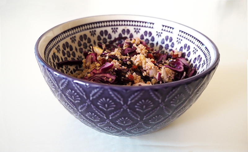 Rotkohltabouleh mit Couscous