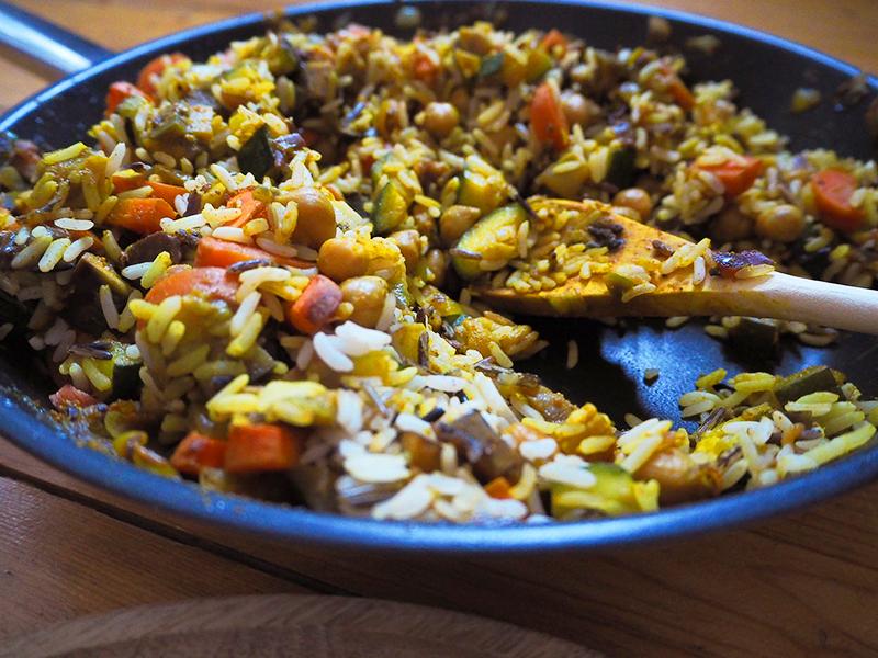 Orientalischer Reis-Pfanne