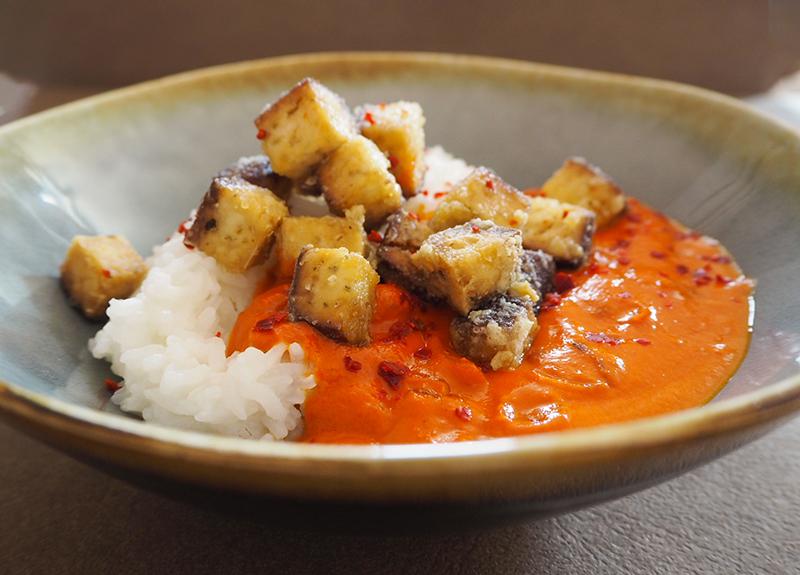 Tofu mit Butter Chicken Soße
