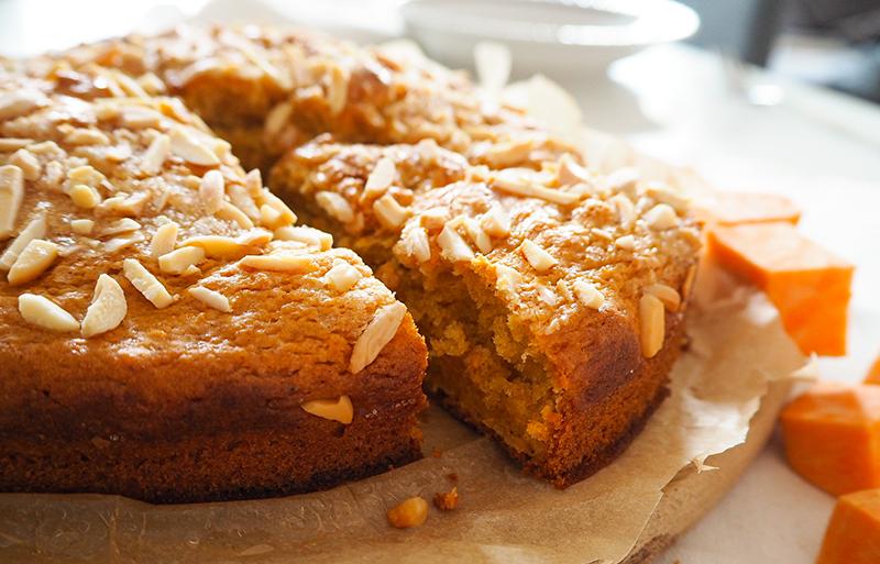 Süßkartoffelkuchen vegan mit Banane