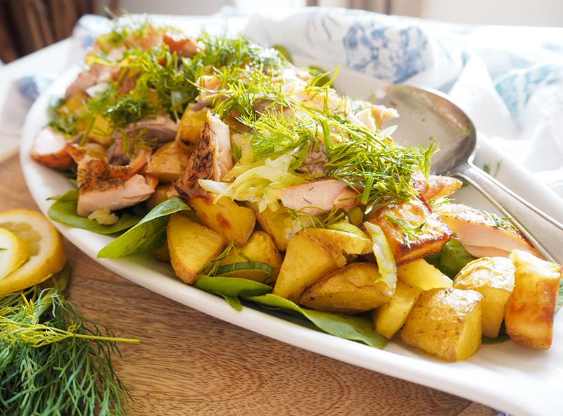 kartoffelsalat mit lachs