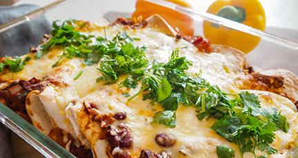 Veggie Enchiladas überbacken