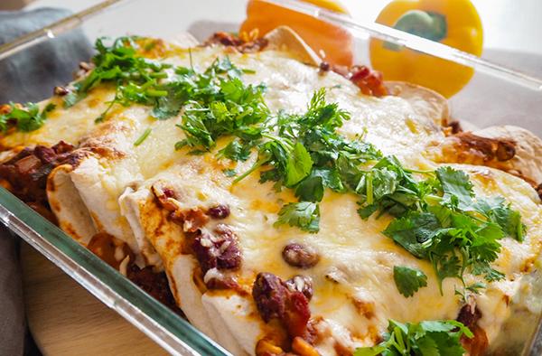 veggie enchilada überbacken