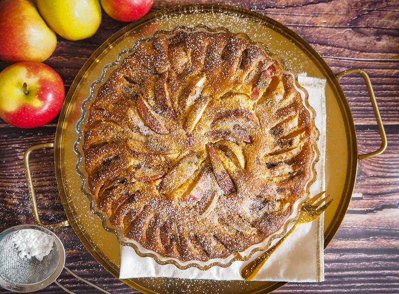 schneller einfacher apfelkuchen aus rührteig