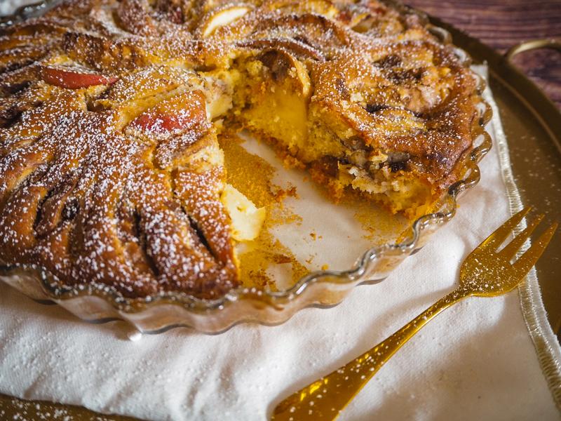 schneller und einfacher apfelkuchen aus rührteig